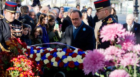 Hollande unveils giant new WWI memorial