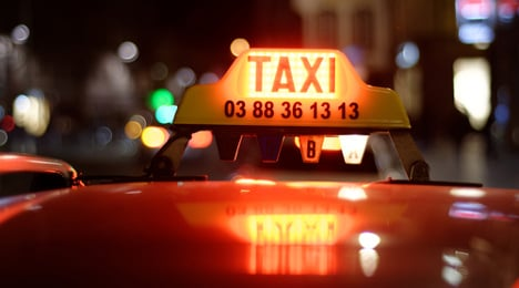 Angry French taxi drivers 'attack' Uber user