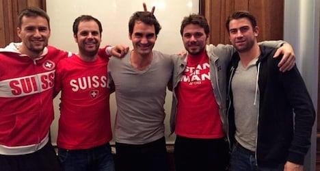 Federer and Wawrinka 'bury the hatchet' online