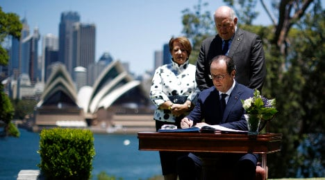 French president goes down under for first time