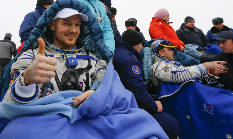 German astronaut Gerst back down to Earth