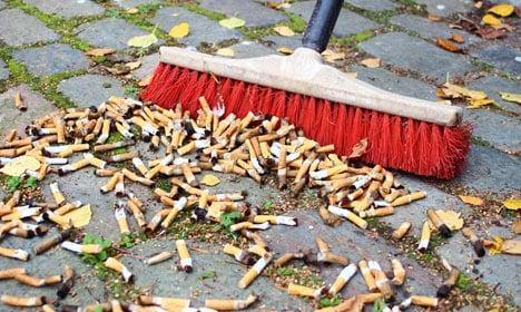 Copenhagen flooded with cigarette butts