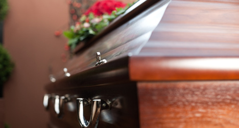Man stages coffin protest against noisy neighbours