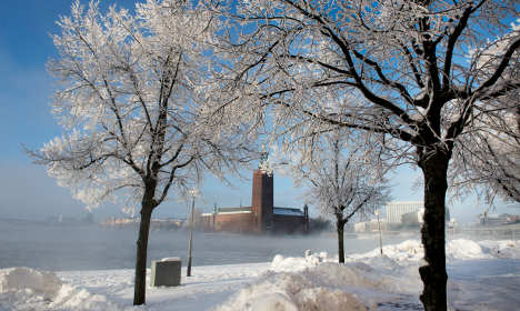 Stockholm promised a white Christmas