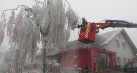 Rare ice storm hits Waldviertel