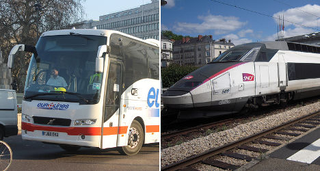 Buses to battle trains as France deregulates