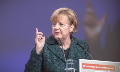 Merkel draws battle lines for 2017 election