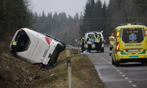 Tourist killed and dozens hurt in Sweden bus crash