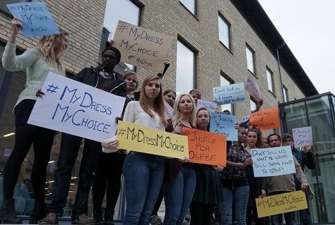 Tweeting from Sweden to Kenya in support of women