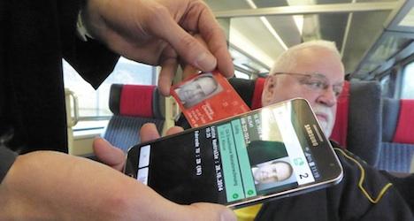 Swiss public transport smart card set for use