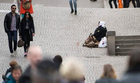Skåne man caught stealing from beggar
