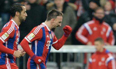 Ribery's 100th goal keeps Bayern ahead