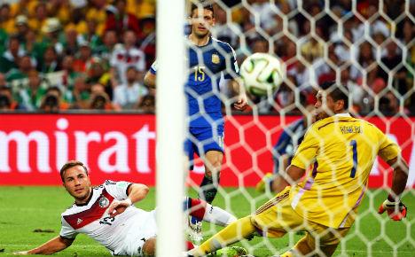 Götze's winning World Cup boot nets fortune