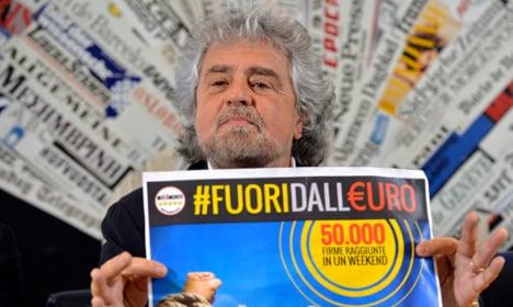 Grillo's anti-euro campaign gathers pace
