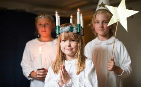 Swedish schoolboy in female saint role row