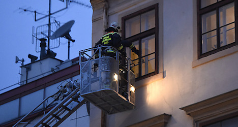 House collapsing in Vienna shopping street