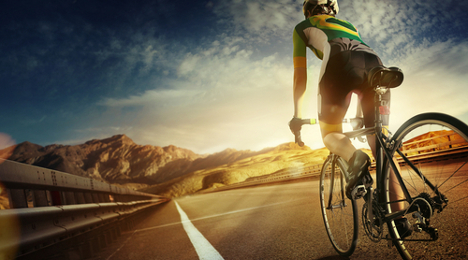 Italian breaks world record for cycling globe