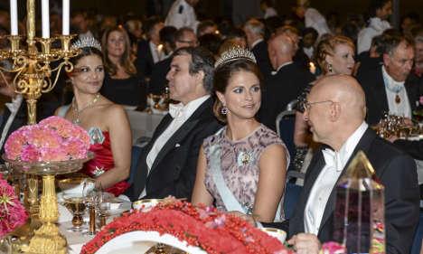 Nobel winners feast at Stockholm dinner