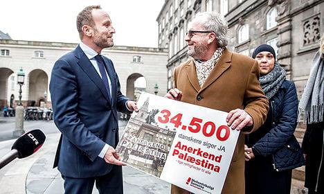 Denmark votes against recognizing Palestine