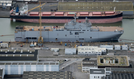 Russia warns France over Mistral delay
