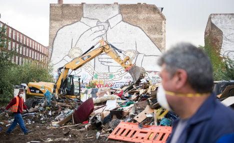 World-famous Berlin street art blacked out