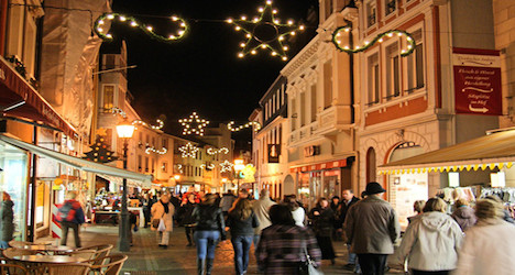 Swiss head to shops rather than slopes