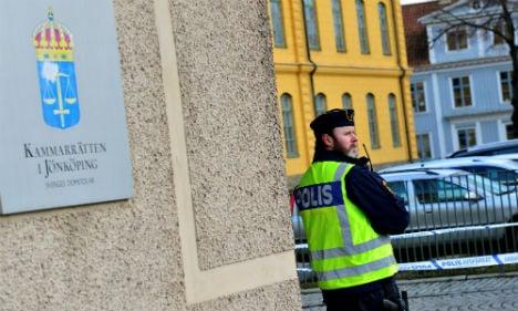 Swedish court evacuated after new bomb threat