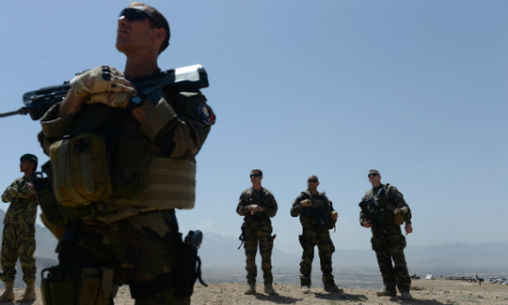 Departing French troops hold Kabul farewell