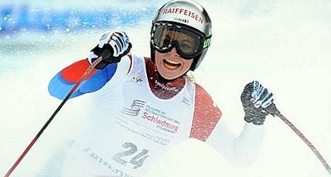 Switzerland's Gut wins Super-G at Lake Louise
