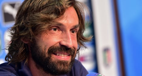 Italy's Pirlo wins player of the year treble