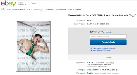 Semi-nude Salvini pics auctioned on eBay