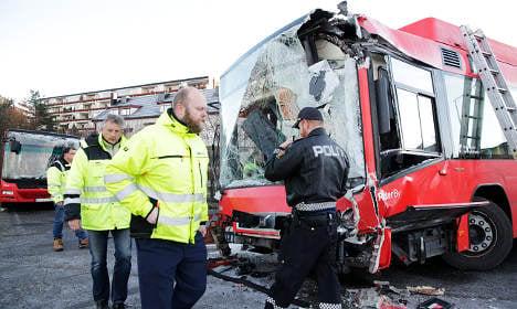 21 injured in Oslo bus crash