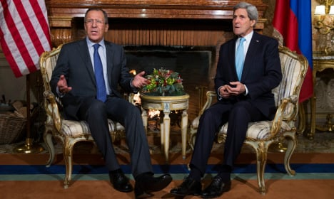 Kerry in Rome for talks with Russian FM