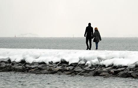 VIDEO: 'Danish school of happiness' hits the water