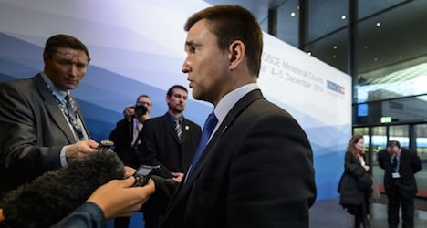 Ukraine minister in Basel urges 'real ceasefire'