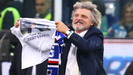 Sampdoria football chief sanctioned for racist slur