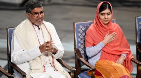 Malala and Satyarthi get Peace Prize in Oslo