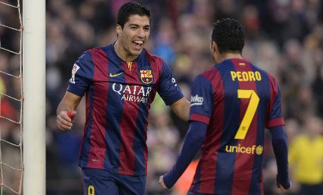 Suarez opens Barca league account