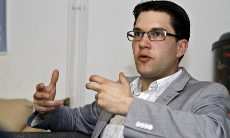 Sweden Democrat leader breaks sick leave silence