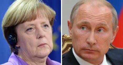 Merkel rigid on easing Russia sanctions