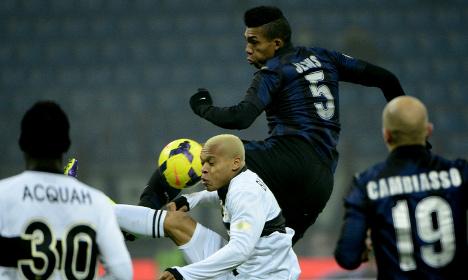 Inter player gets match ban over Juve hit