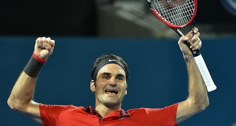 Federer claims 1,000th win at Brisbane tourney