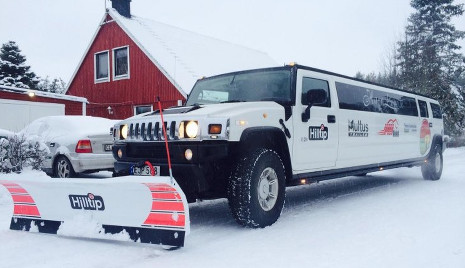 World's first limousine snowplough for hire