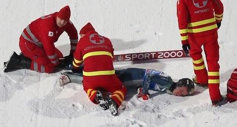 US ski jumper injures spine in Austria