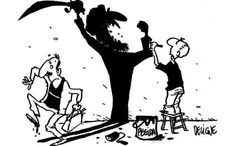 French caricaturists target Pegida marchers