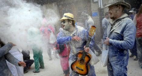 IN PICS: Galicia's flour bombing fest