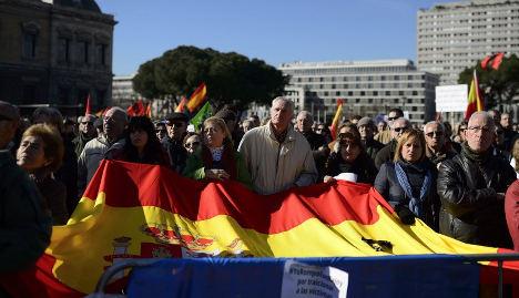 Hundreds protest ETA terrorist releases