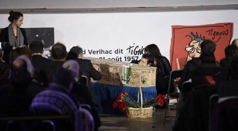 Charlie Hebdo artists buried in Paris