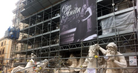 Rome's Trevi pays tribute to late La Dolce Vita star