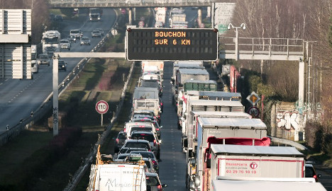 French truck drivers' strike causes road chaos